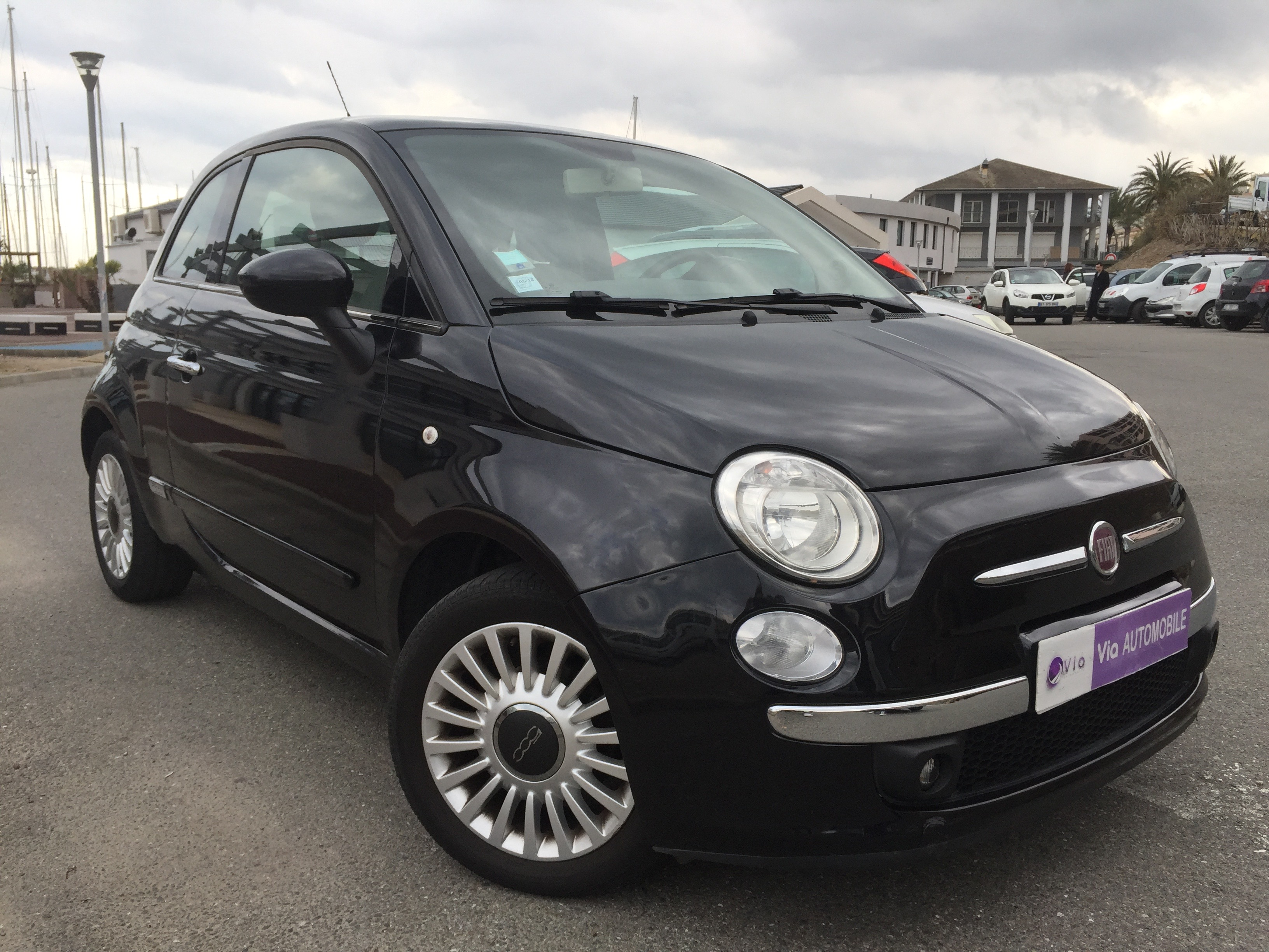 voiture fiat 500 1 2 8v 69 ch lounge occasion essence 2012 39000 km 7700 ville di. Black Bedroom Furniture Sets. Home Design Ideas